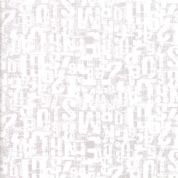 Compositions by Basic Grey - 5263 - Number Jumble, Ivory on Pale Taupe - 30453 19 - Cotton Fabric